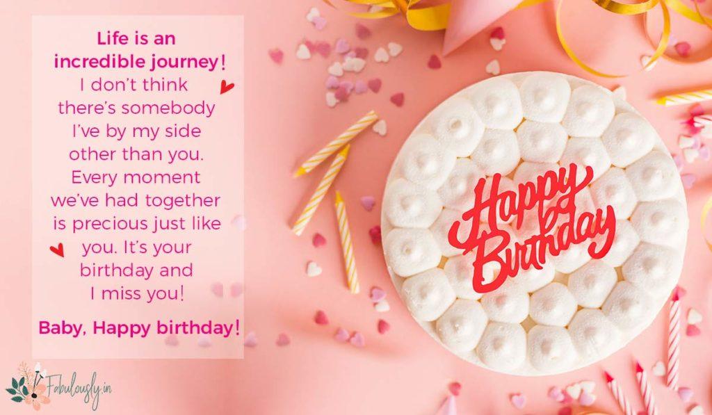 birthday message husband love