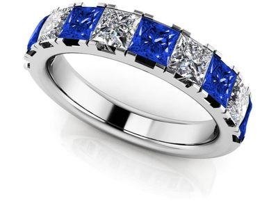 gemstone anniversary ring
