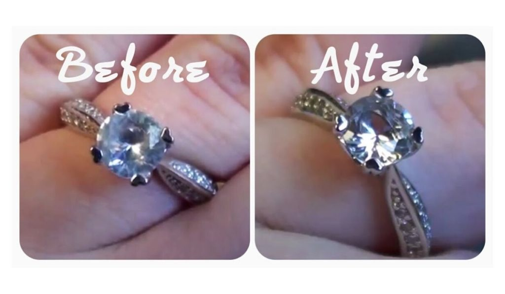 how to clean sterling silver rings with diamonds