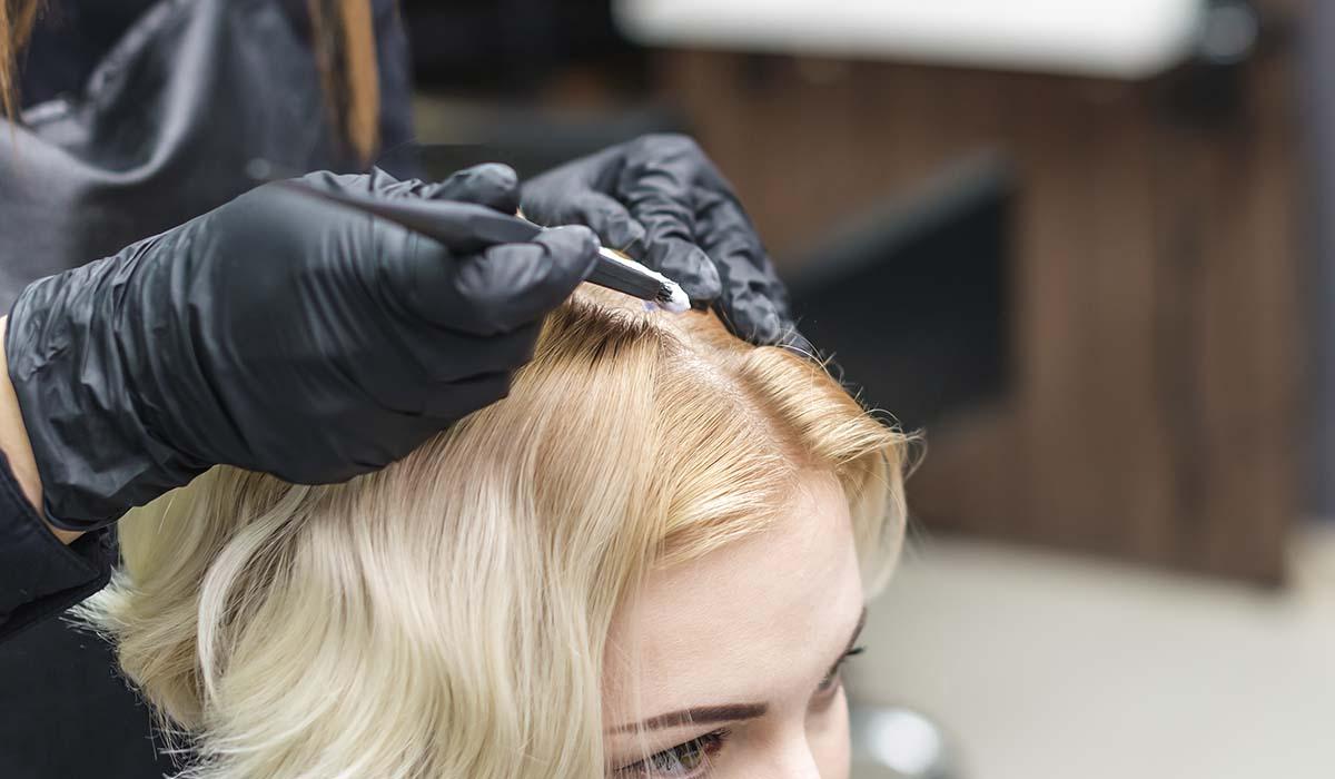 bleached hair tips